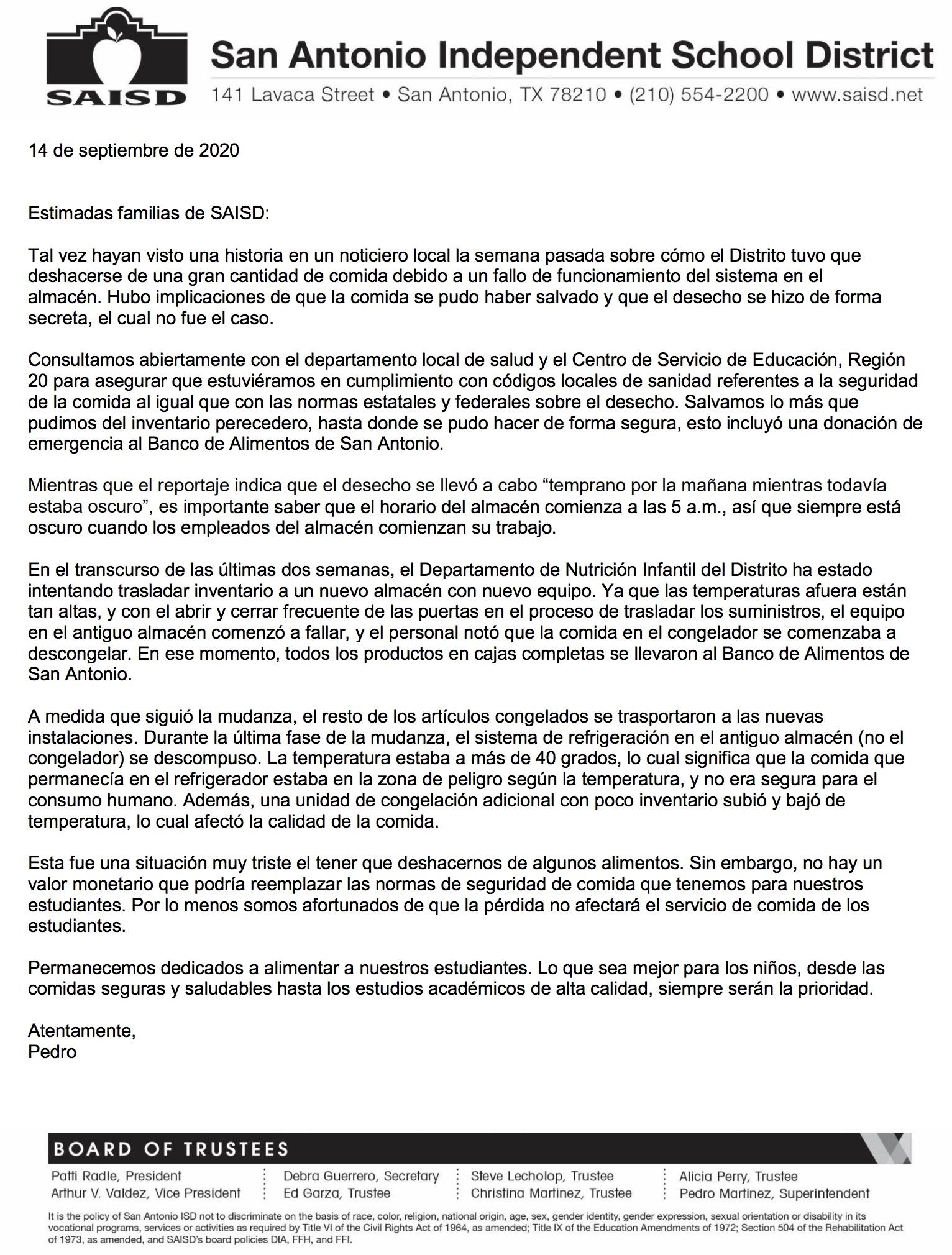 parent letter 9.14.2020 span