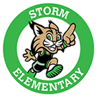 Ollie Perry Storm Elementary School Logo